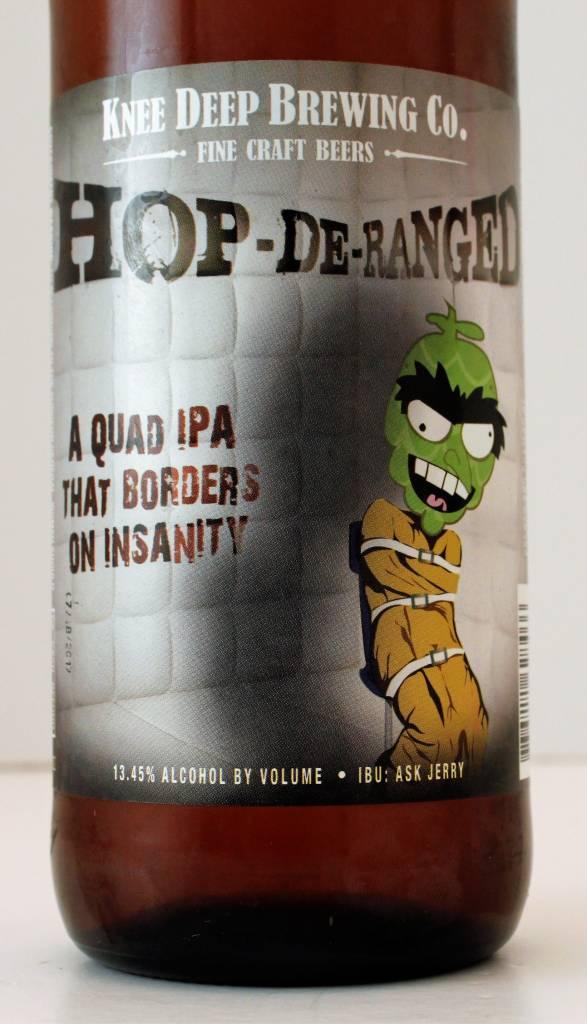 """Knee Deep Brewing """"Hop-De-Ranged"""" Quadrupel IPA, California"""