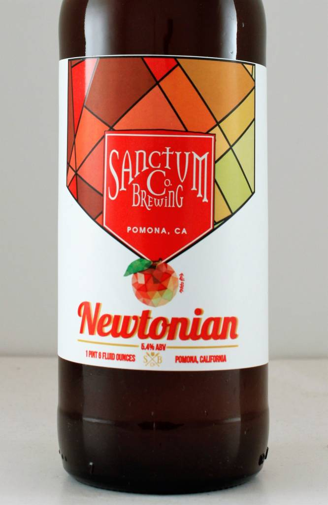 """Sanctum Brewing """"Newtonian"""" Ale Brewed with Apples, California"""