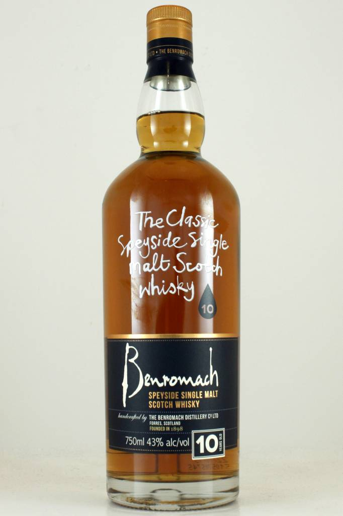 Benromach 10 Year Old Speyside Single Malt Scotch Whisky