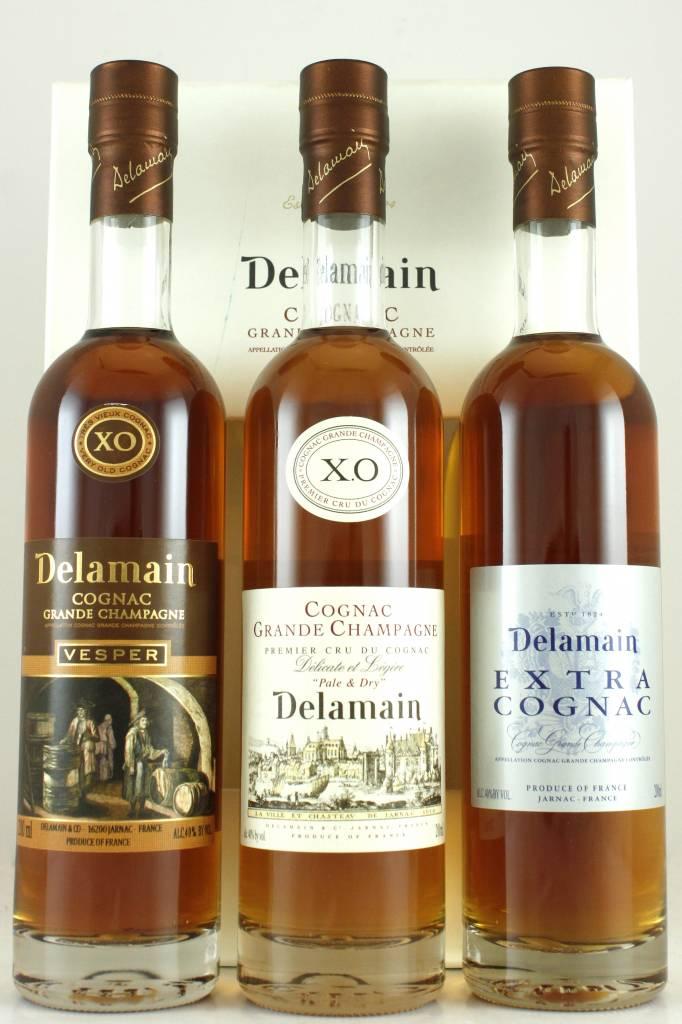 Delamain Grande Champagne Cognac Trio Pack, 375ml bottles