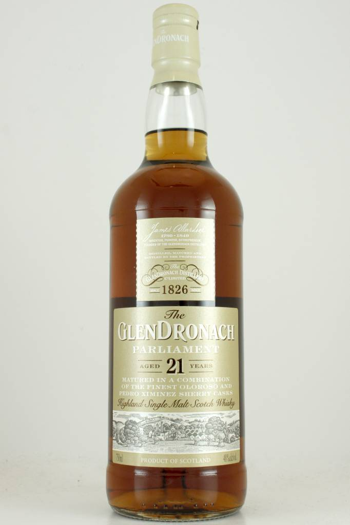 GlenDronach Parliament 21 Year Highland Single Malt Scotch Whisky