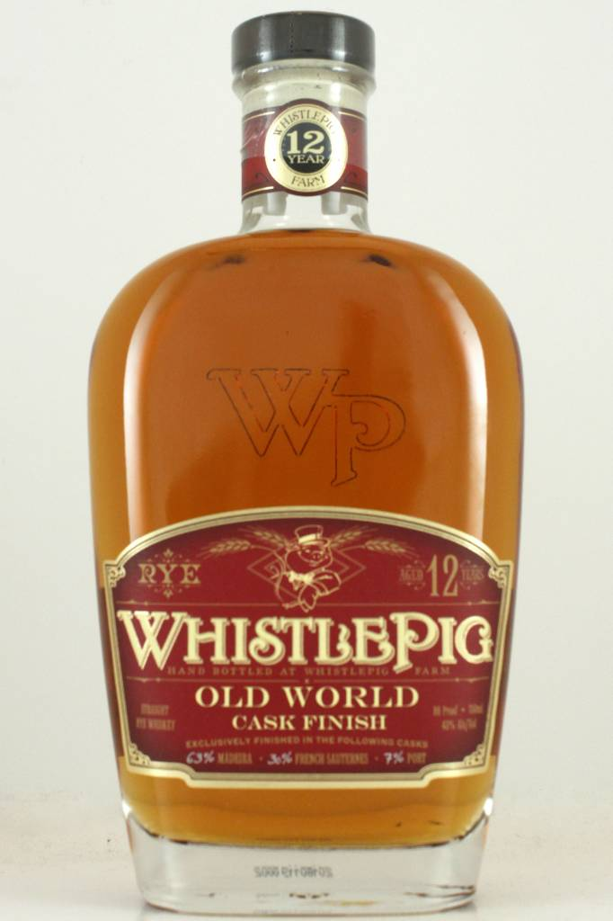 WhistlePig Straight Rye Whiskey Aged 12 Years
