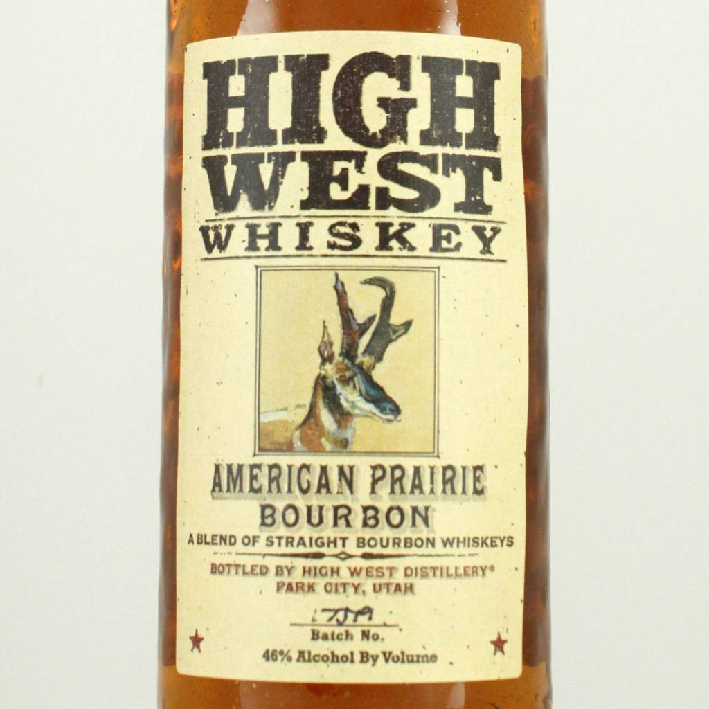 High West Whiskey American Prairie Bourbon, Park City, Utah