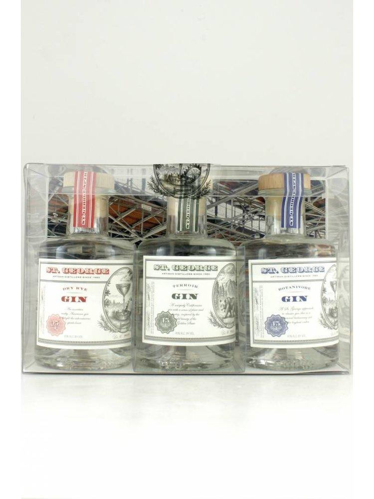 St. George Gin Sampler 3-Pack, 200ml. Bottles, Alameda, California