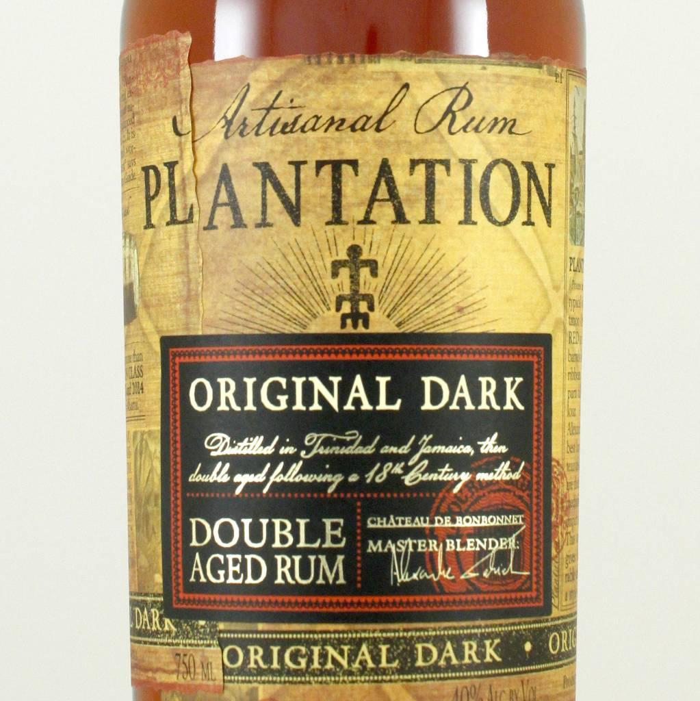 Plantation Artisanal Rum Original Dark Double Aged, Trinidad-Jamaica
