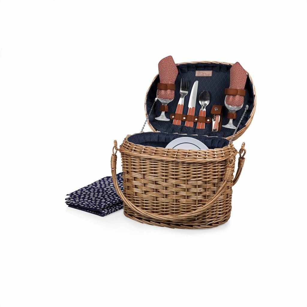 """Picnic Time"""" Romance"""" Picnic Basket for Two - Adeline"""