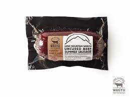 Lone Mountain Wagyu Uncured Beef Summer Sausage