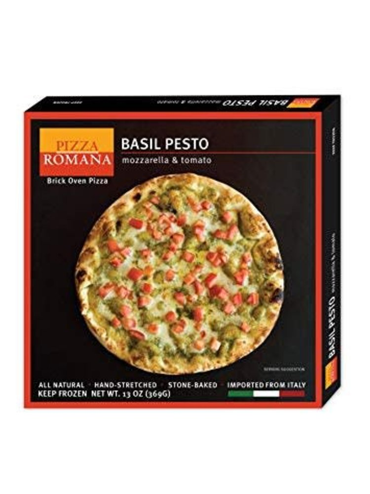 Pizza Romana Basil Pesto Brick Oven Pizza, Marche, Italy