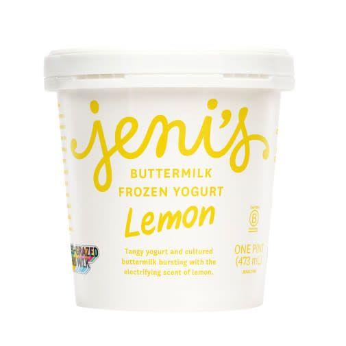 Jeni's Lemon Buttermilk Frozen Yogurt Pint, Ohio