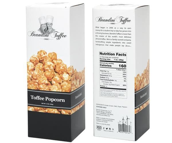 Brandini Toffee Popcorn 12oz. Box