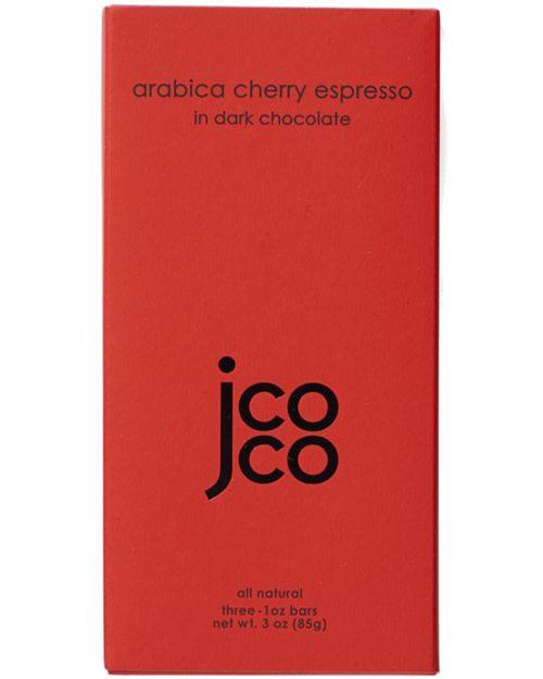 JCOCO Arabica Cherry Espresso in 60% Dark Chocolate Bars
