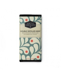 Seattle Chocolate Double Distilled Mint Milk Chocolate Truffle Bar