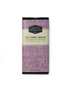 Seattle Chocolate 72% Dark Origin Chocolate Truffle Bar