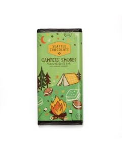 Seattle Chocolate Camper's S'Mores Milk Chocolate Truffle Bar