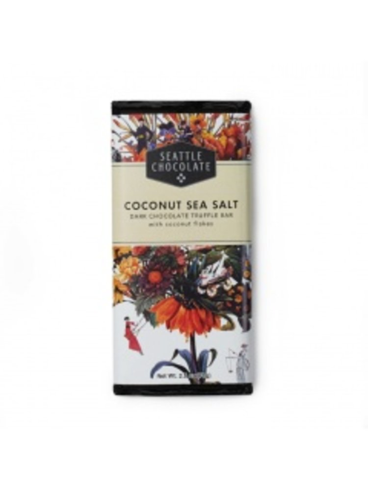 Seattle Chocolate Coconut Sea Salt Dark Chocolate Truffle Bar