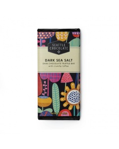 Seattle Chocolate Dark Sea Salt with Toffee Truffle Bar