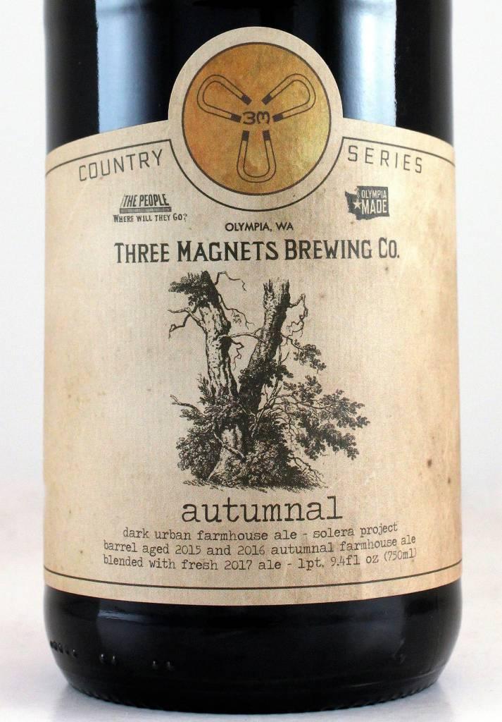 "Three Magnets Brewing Co. ""Autumnal Solera"" Dark Farmhouse Ale"