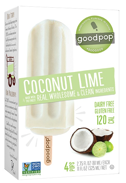 Goodpop Coconut Lime Frozen Pop, Austin, Texas