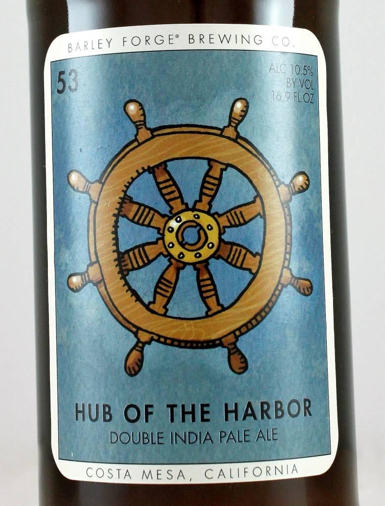"Barley Forge ""Hub of the Harbor"" Imperial IPA, Costa Mesa, California"