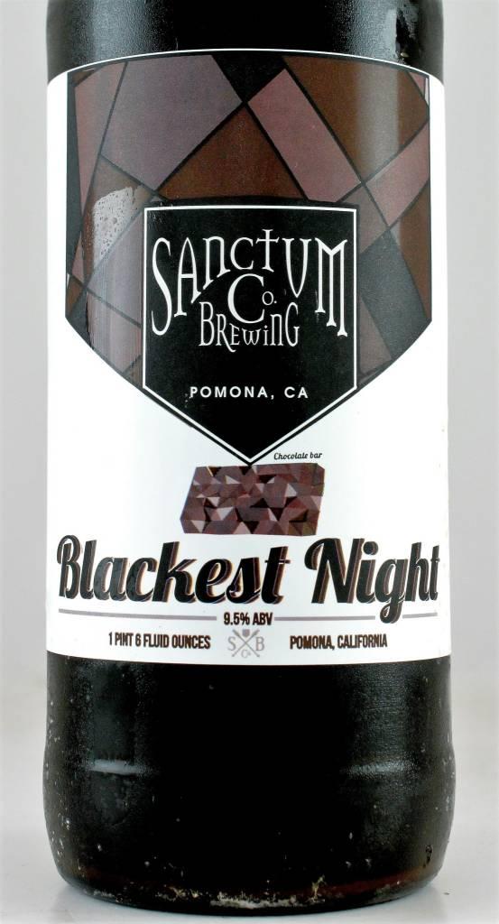 """Sanctum Brewing """"Blackest Night"""" Imperial Stout, California"""