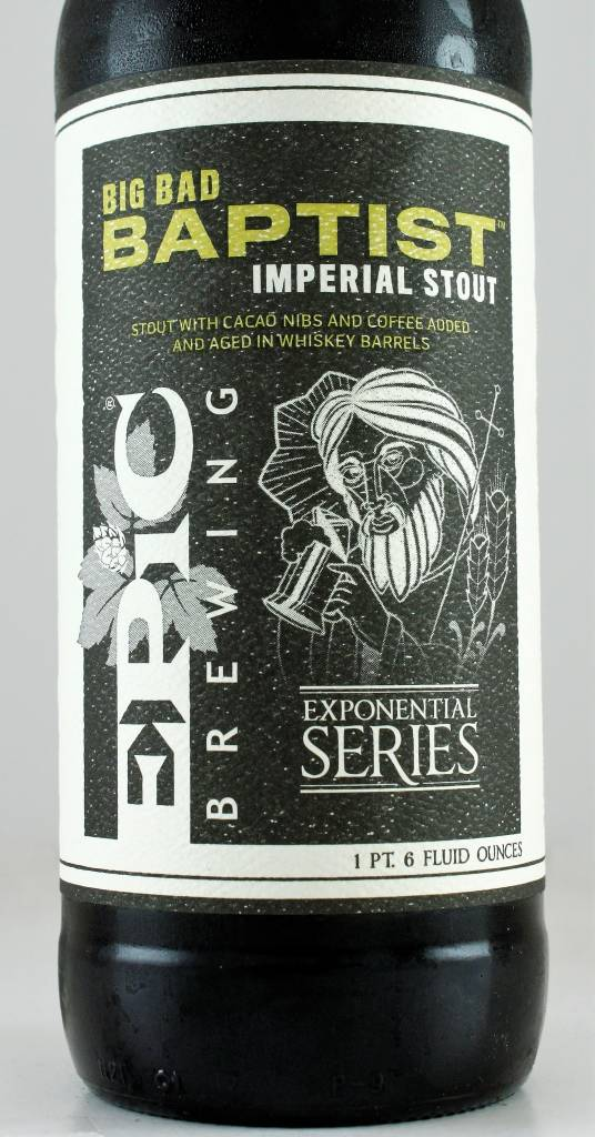 "Epic Brewing ""Big Bad Baptist"" Imperial Stout, Utah"