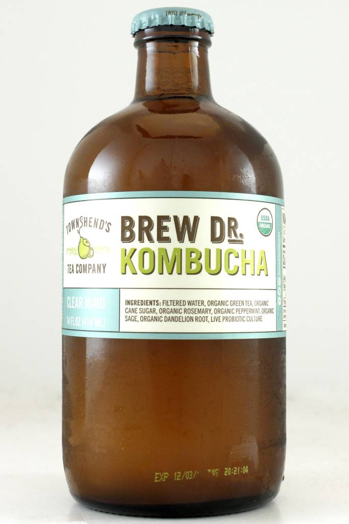 "Brew Dr.  Kombucha ""Clear Mind"" with Rosemary, Peppermint, Sage, Portland, Oregon"