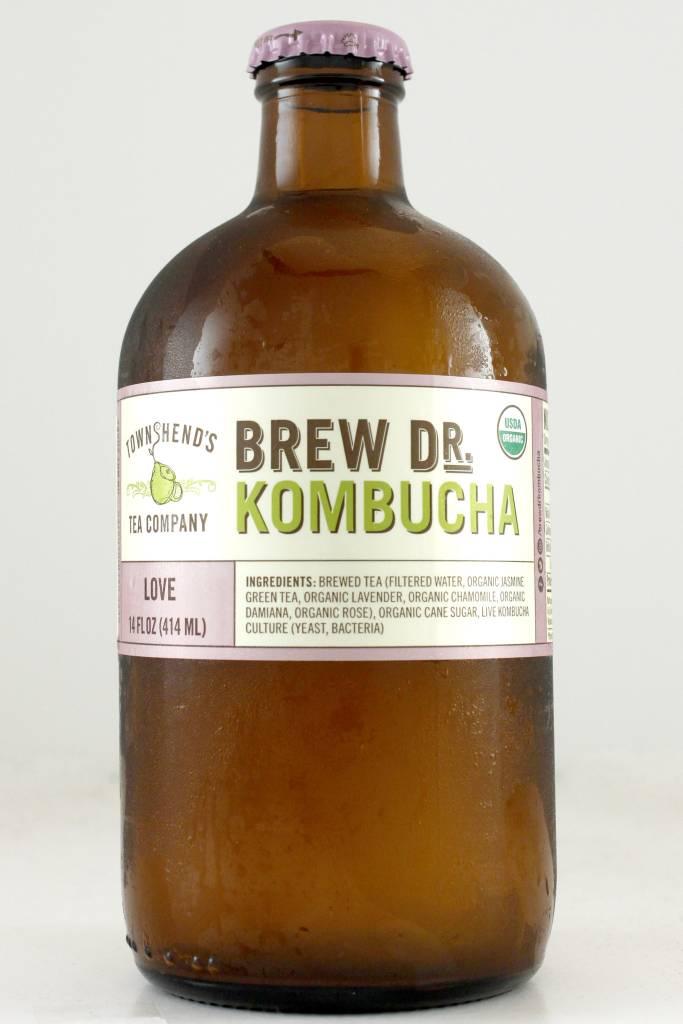 "Brew Dr. Kombucha ""Love"" with Jasmine Green Tea, Lavender, Chamomile, Roses, Portland, Oregon"