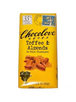 Chocolove Toffee & Almonds in Milk Chocolate Bar, Boulder