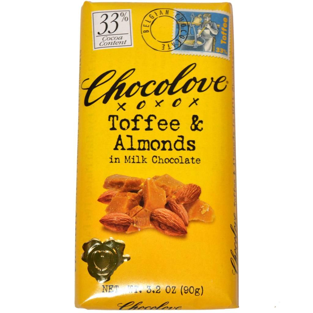 Chocolove Toffee and Almond Milk Chocolate Bar, Boulder