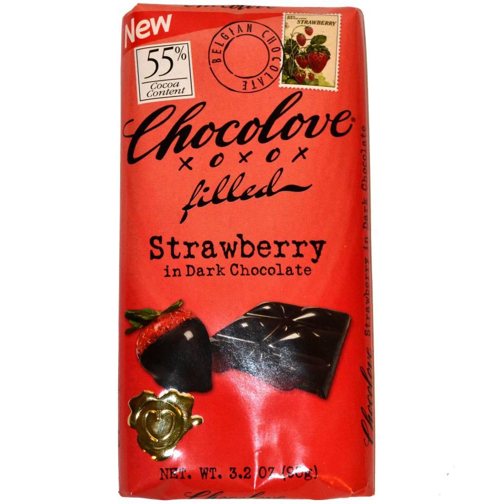 Chocolove Strawberry in Dark Chocolate Bar, Boulder