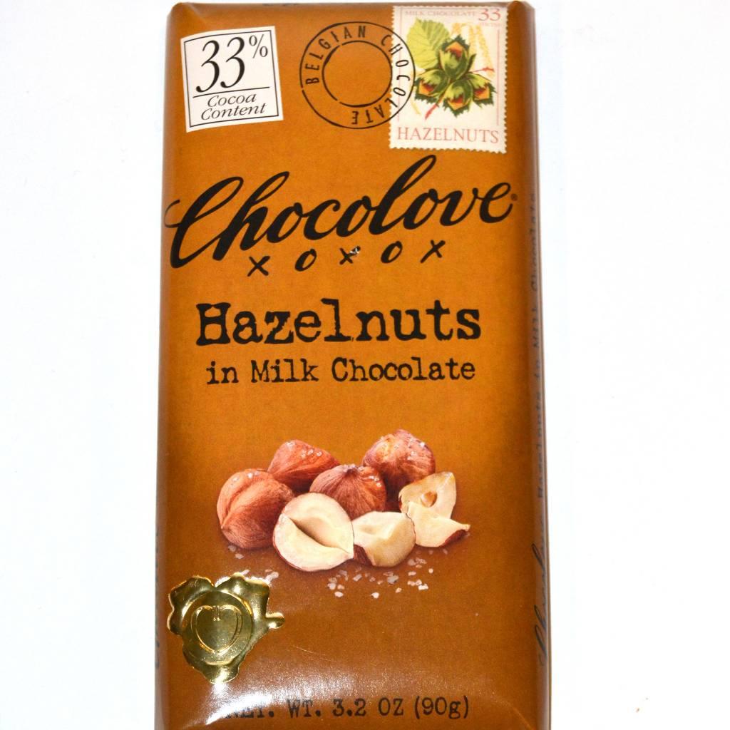 Chocolove Hazelnuts Milk Chocolate Bar, Boulder