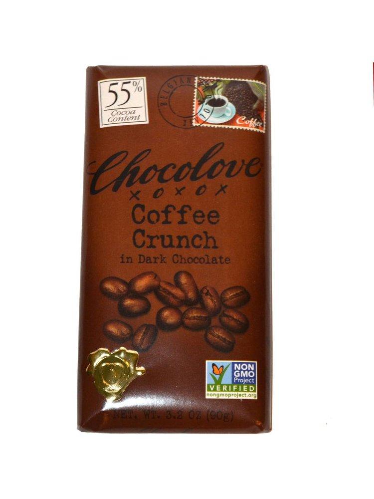 Chocolove Coffee Crunch Dark Chocolate Bar, Boulder