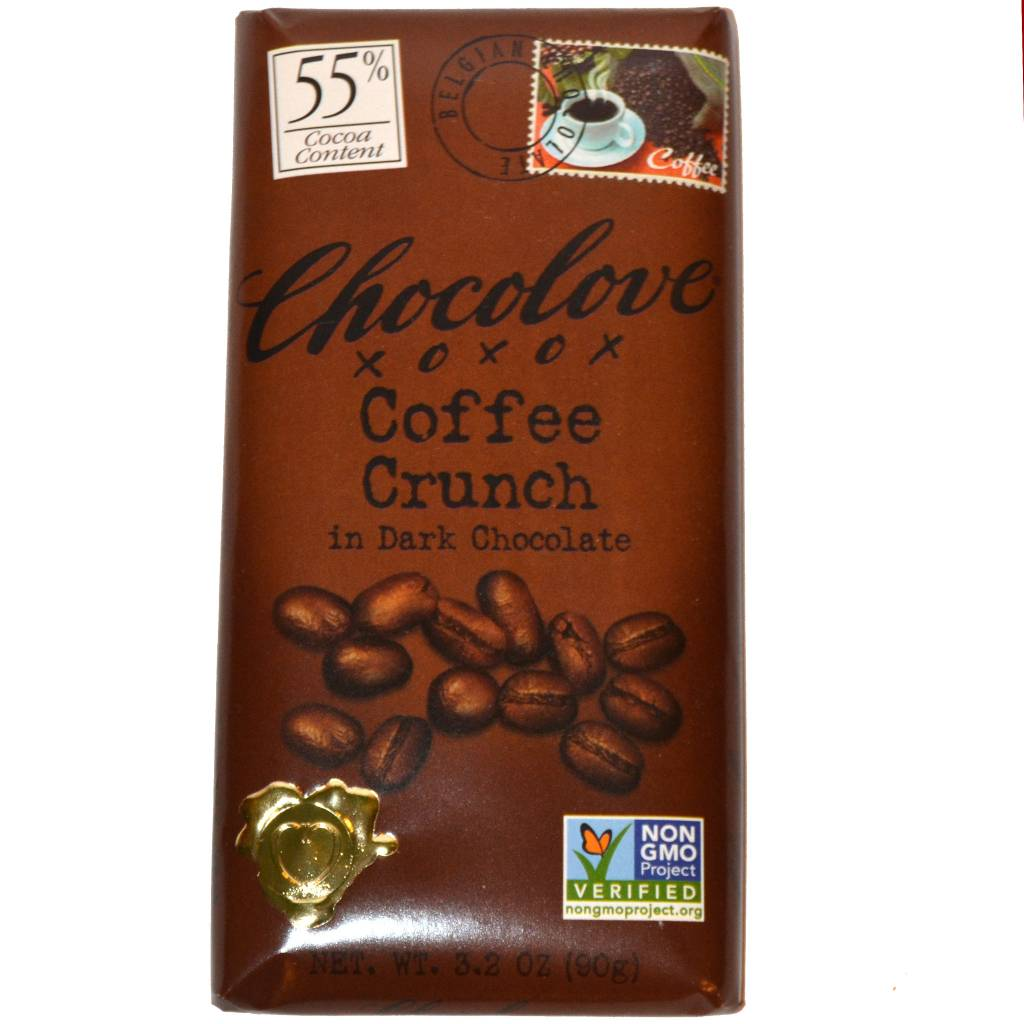 Chocolove Coffee Crunch Dark Chocolate Bar, Boulder