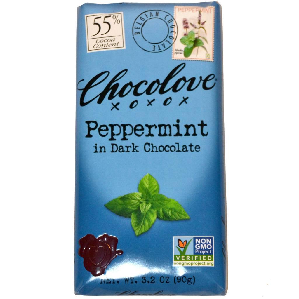 Chocolove Peppermint Dark Chocolate Bar, Boulder