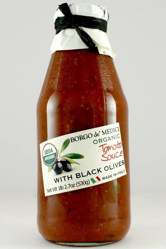Borgo de' Medici Organic Tomato Sauce with Black Olives, Italy