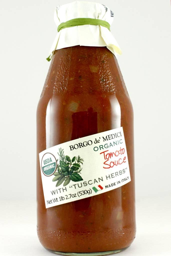 Borgo de' Medici Organic Tomato Sauce with Tuscan Herbs, Italy
