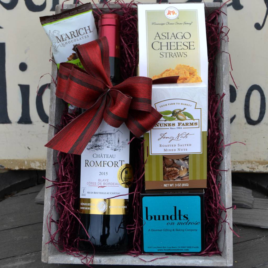 Chateau Romfort Red Bordeaux Gift Basket