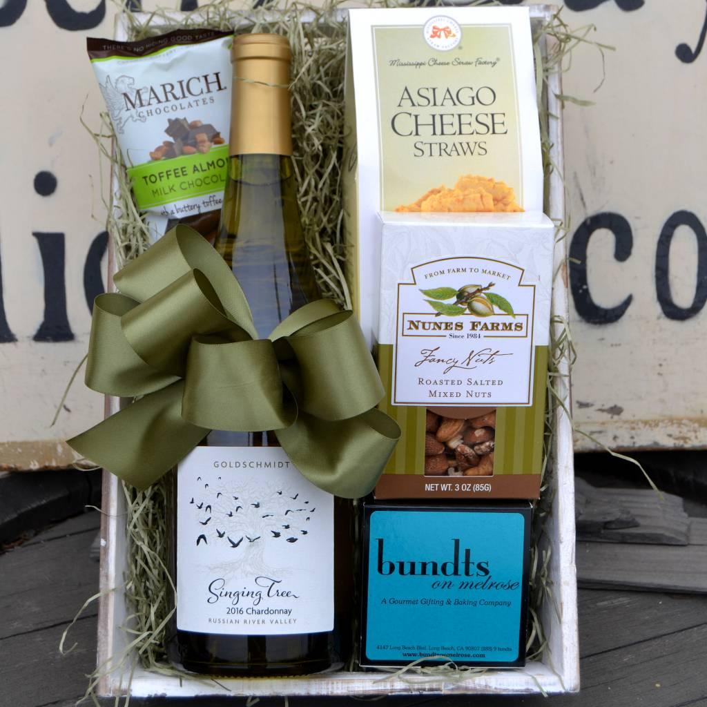 Singing Tree Chardonnay Gift Basket