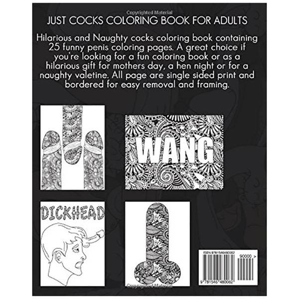 Adult Colouring Book: Just Cocks