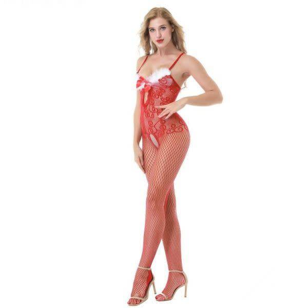 Premium Products Premium Products Holiday Crotchless Bodystocking (One Size)