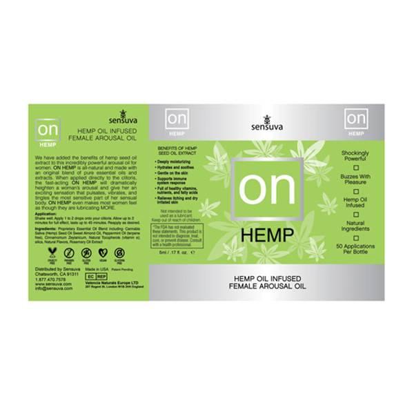 Sensuva ON Hemp Female Arousal Oil 0.17 oz (5 ml)