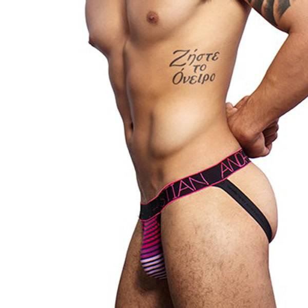 Andrew Christian Menswear Andrew Christian Heartbeat Stripe Jock w/ Almost Naked