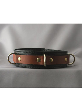 Aslan Leather Inc. Brass & Tan Collar