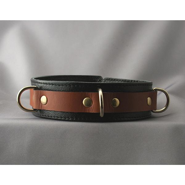 Aslan Leather Inc. Brass & Tan Collar