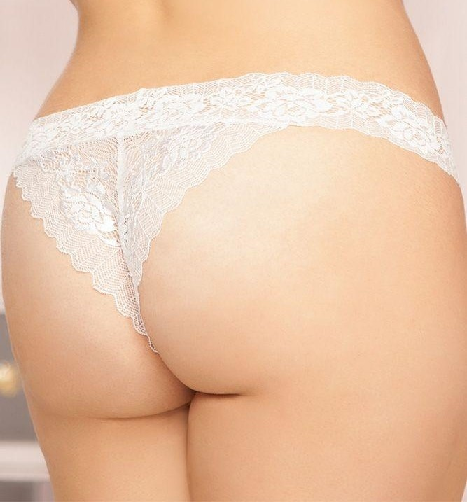 Seven Til Midnight Rose Lace Open Crotch Panty