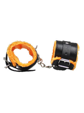 Premium Products PU Leather Cuffs with Orange Fur