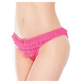 Coquette International Lingerie Ruffle Mesh Panty