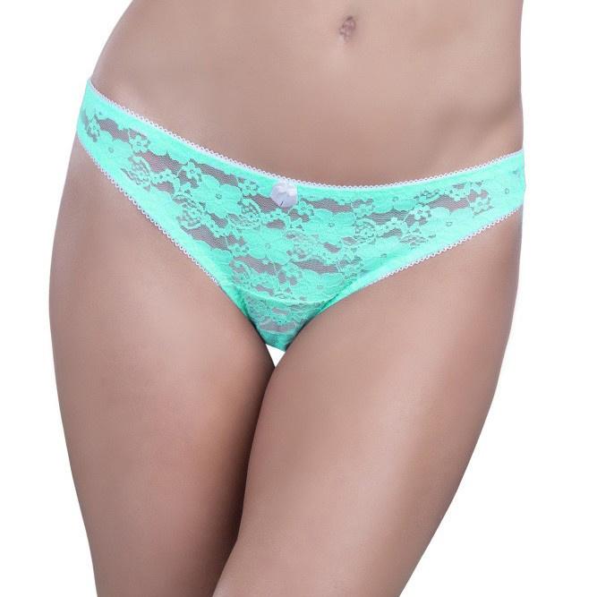 Oh la la Cheri Oh la la Cheri Lace Crotchless Open Back Panty (One Size)