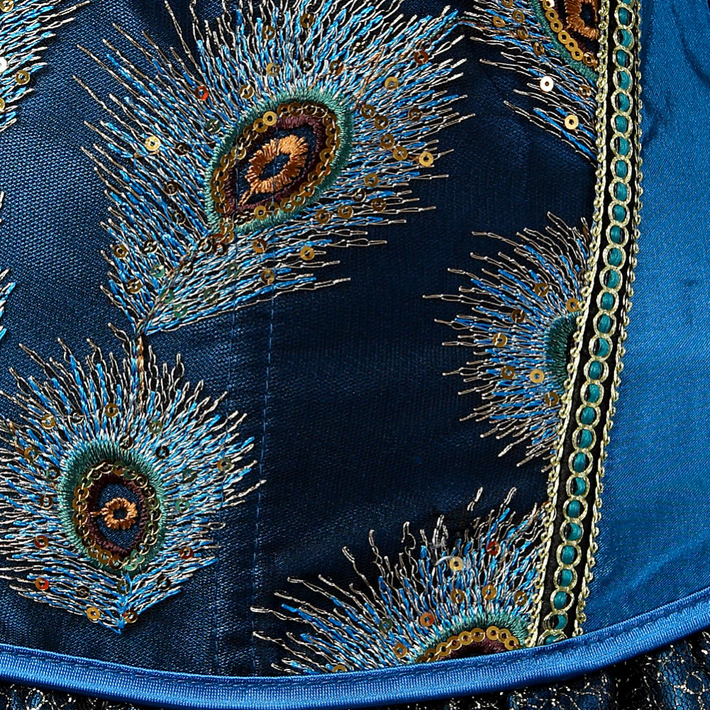 Premium Products Peacock Corset with Feather Detail