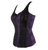 Premium Products Lace Up Overbust Corset Vest (Purple)
